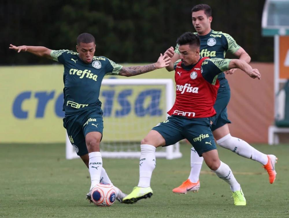 Palmeiras treina para enfrentar o São Paulo no primeiro clássico pelo Paulistão no domingo - Foto: Cesar Greco/Divulgação