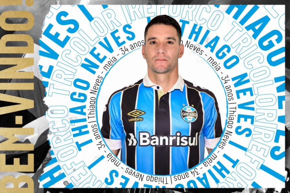 Thiago Neves é o sexto reforço do Grêmio para 2020 (Foto: Divulgação/Grêmio FBPA)