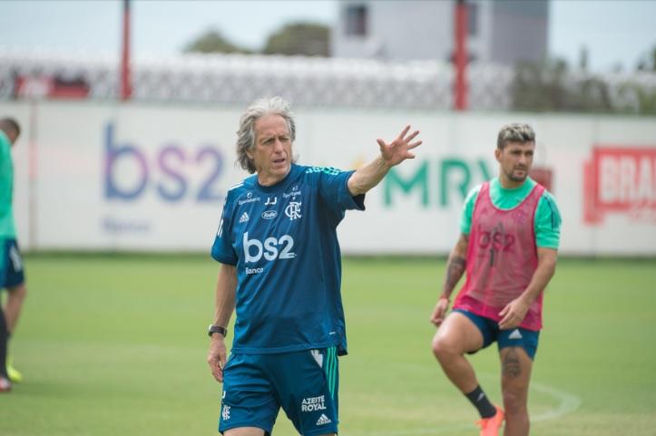 Jorge Jesus vai para seu primeiro clássico do ano comandando o Mengão (Foto: Alexandre Vidal / Flamengo)
