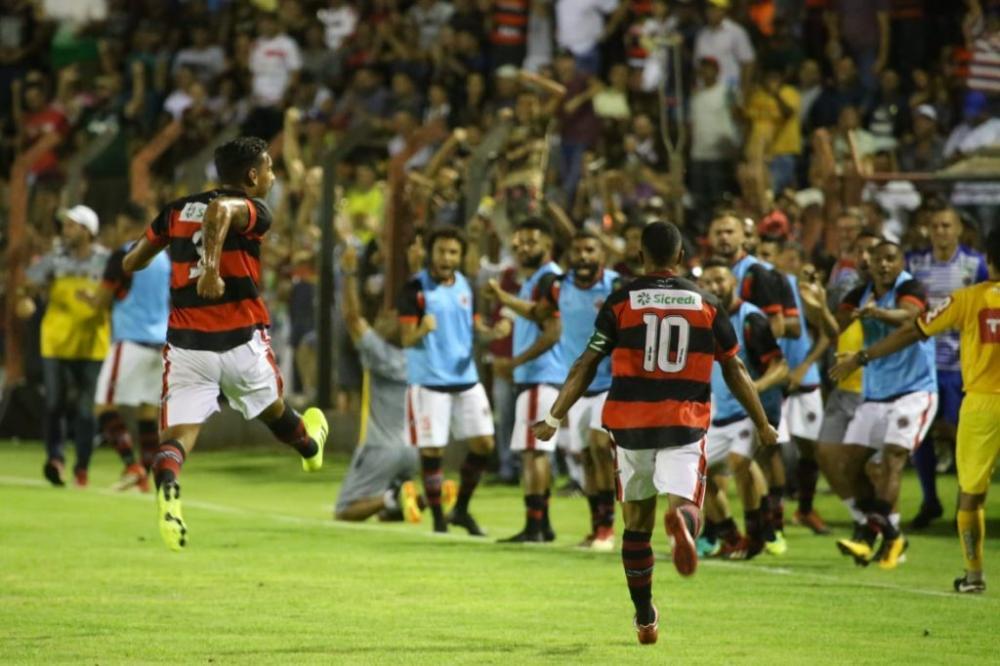 Águia Negra vence Sampaio Corrêa e enfrenta Ferroviária na 2ª fase da Copa do Brasil
