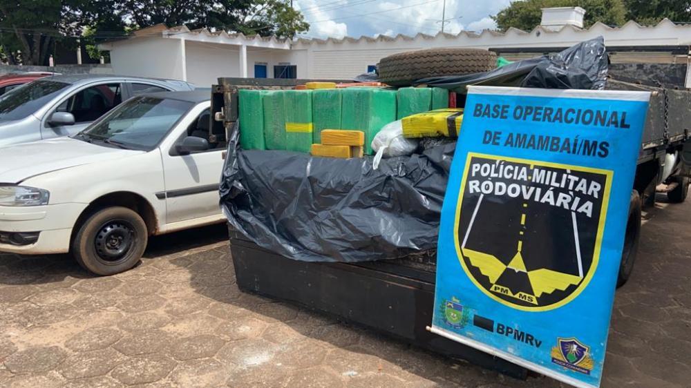 Flagrante foi feito pela Polícia Militar Rodoviária durante fiscalização na MS-156 em Amambai