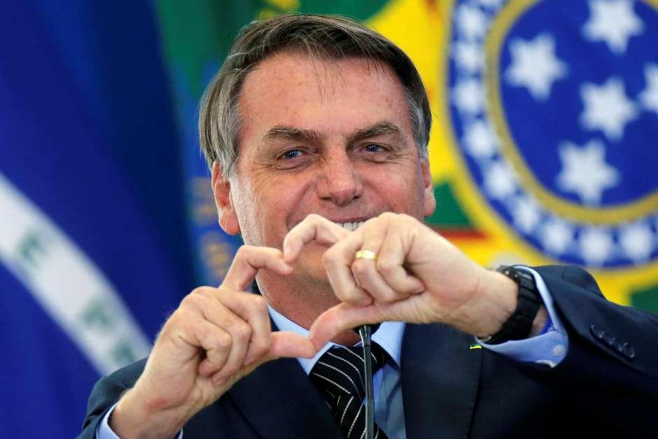 Presidente Jair Bolsonaro durante cerimônia no Palácio do Planalto 20/02/2020 - Foto: REUTERS/Adriano Machado