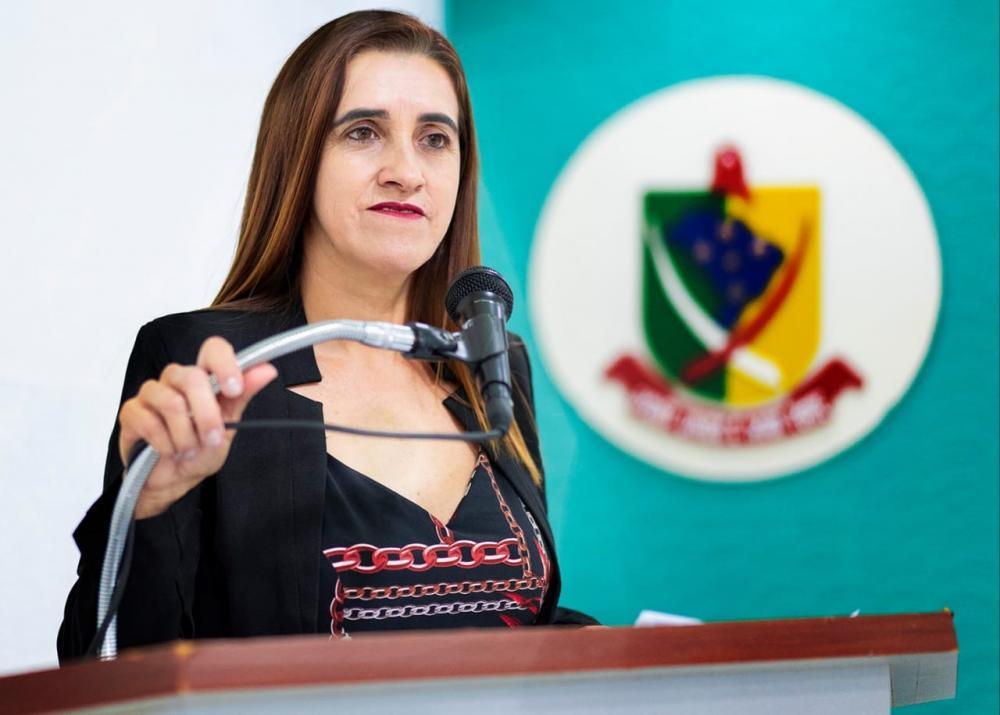 Vereadora Cecília Cáceres, presidente da Câmara Municipal de Antônio João