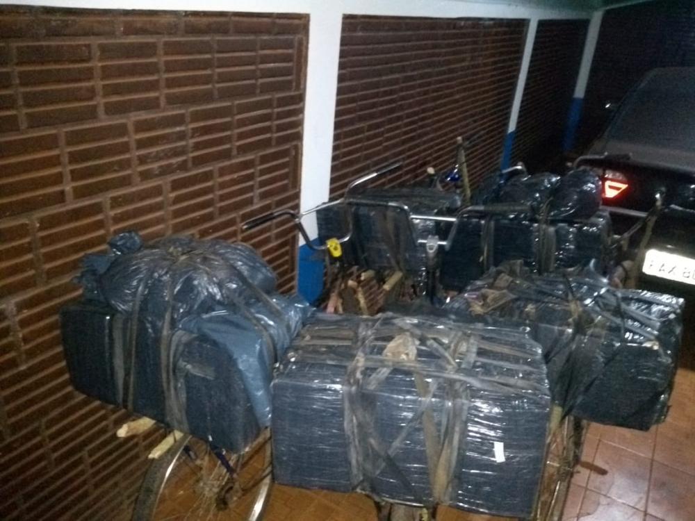 Polícia Militar apreende bicicletas com quase 200 kg de maconha