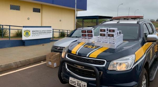 Polícia apreende contrabando de celulares avaliado em R$ 160 mil
