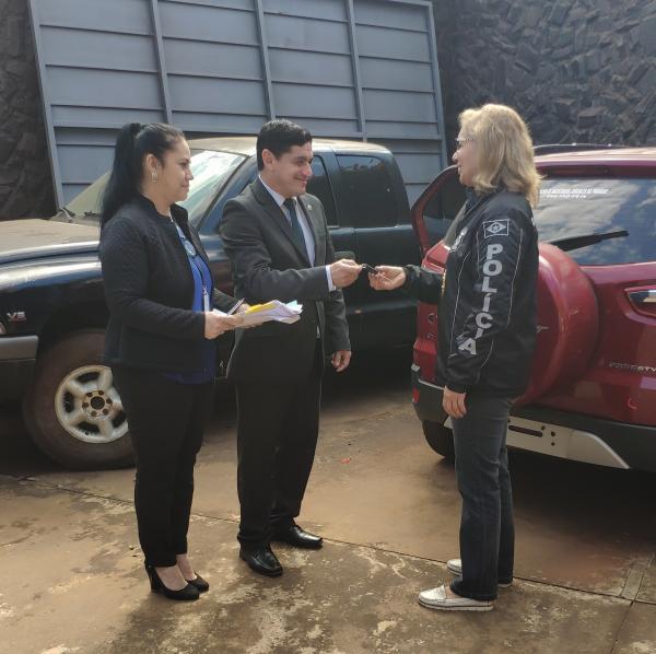 Justiça paraguaia devolve carro roubado ao 1º DP de Ponta Porã
