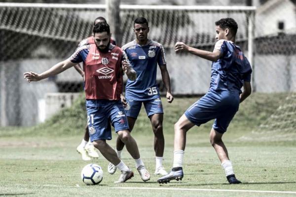 Pará, em treino do Santos, na última quarta-feira, no CT Rei Pelé (Foto: Ivan Storti/Santos)