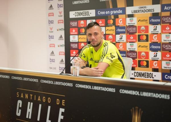 Nesta segunda-feira, Diego Alves concedeu entrevista coletiva sobre a semifinal (Foto: Alexandre Vidal/Flamengo)