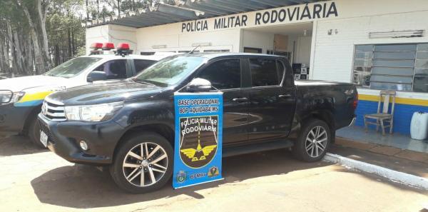 Caminhonete roubada em Goiás é recuperada em Ponta Porã
