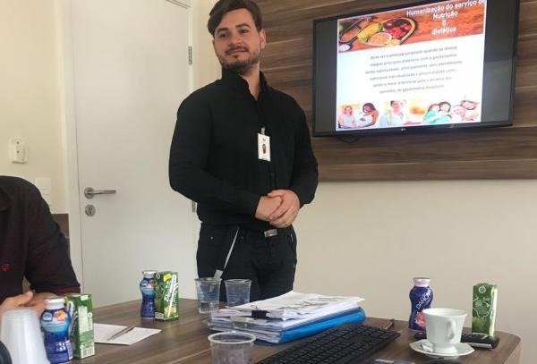 Carlos Henrique Pereira dos Santos, nutricionista responsável técnico do Hospital da Cassems de Ponta Porã