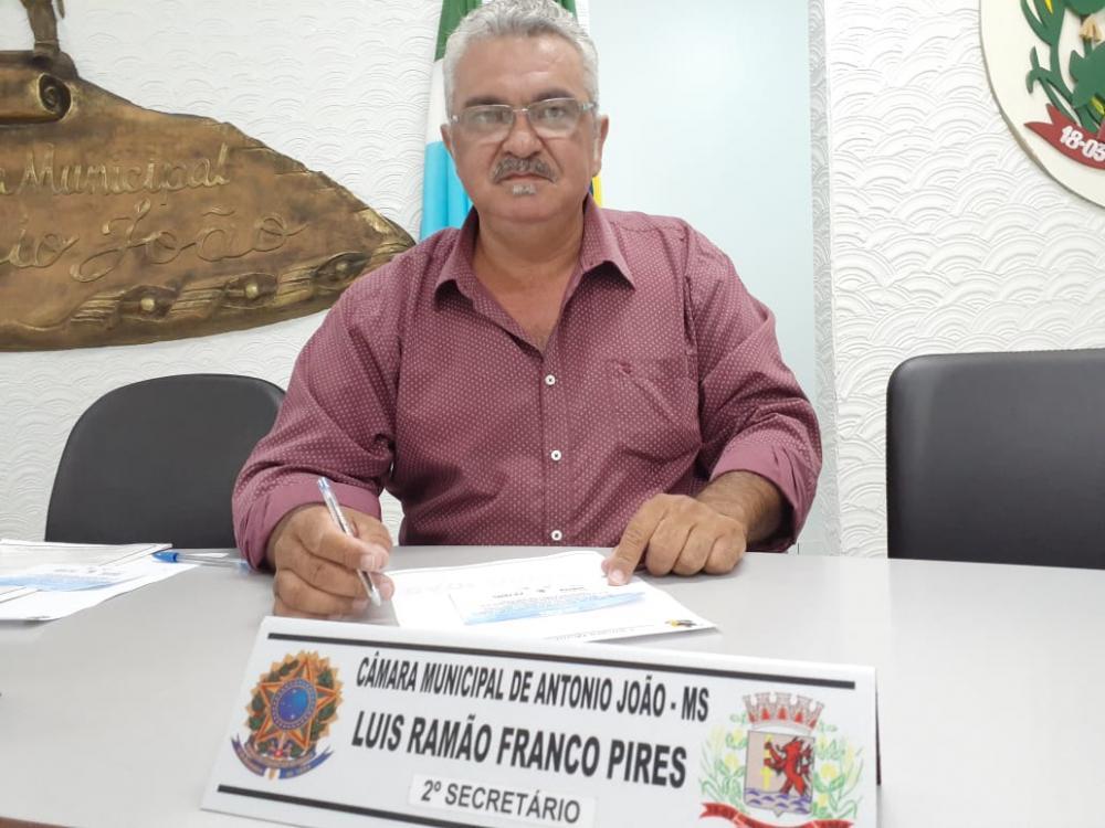 Vereador Luis Ramão Franco Pires (Luis Pistão), autor do projeto de lei