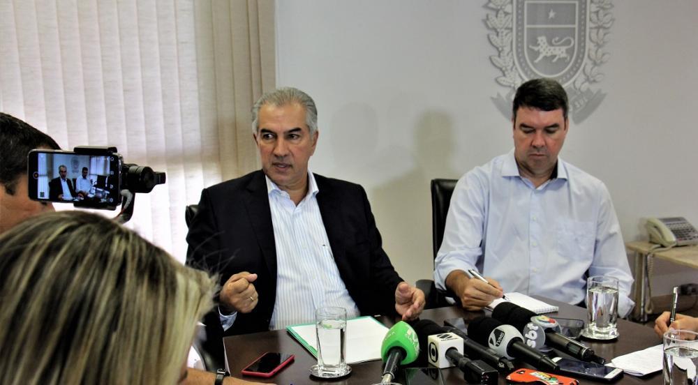A informação foi dada pelo governador Reinaldo Azambuja durante entrevista coletiva