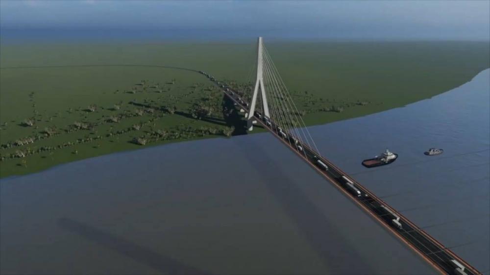 A ponte sobre o Rio Paraguai vai ligar o município paraguaio de Carmelo Peralta a Porto Murtinho